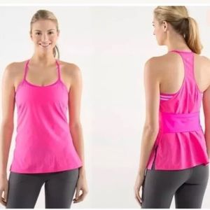 Lululemon pink amped tank